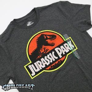 VTG Jurassic Park Retro T REX Logo Shirt 90s promo